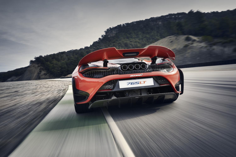 McLaren 765LT supercar rear