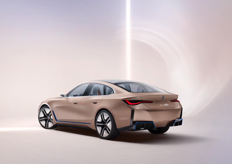 2021 BMW Concept i4 rear three-quarter