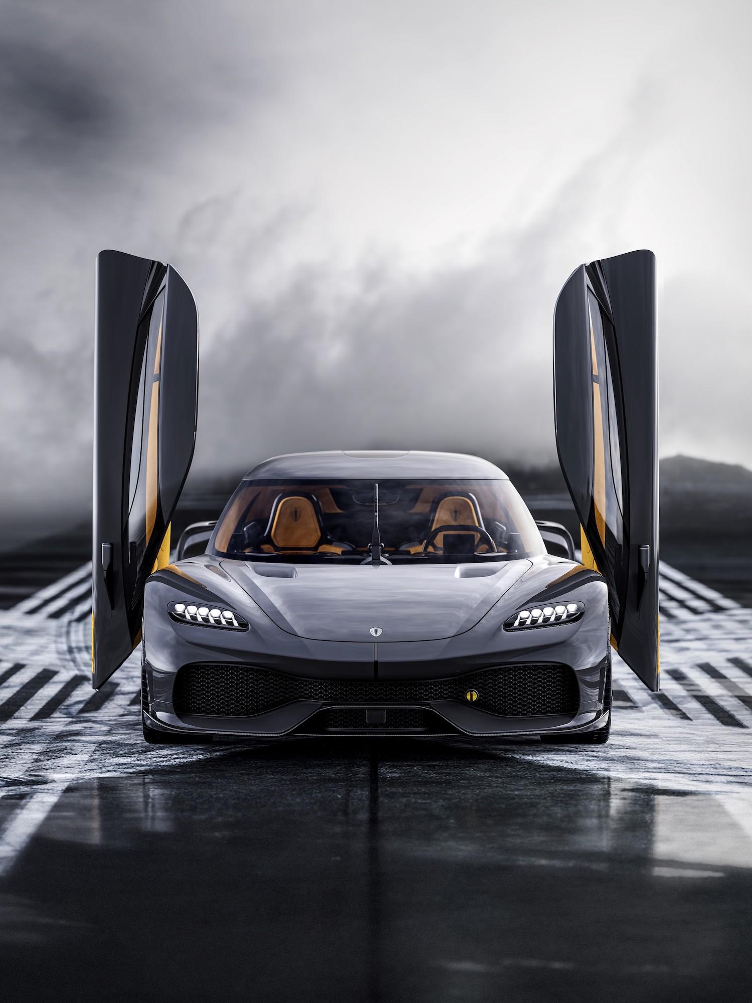Koenigsegg gemera front doors open
