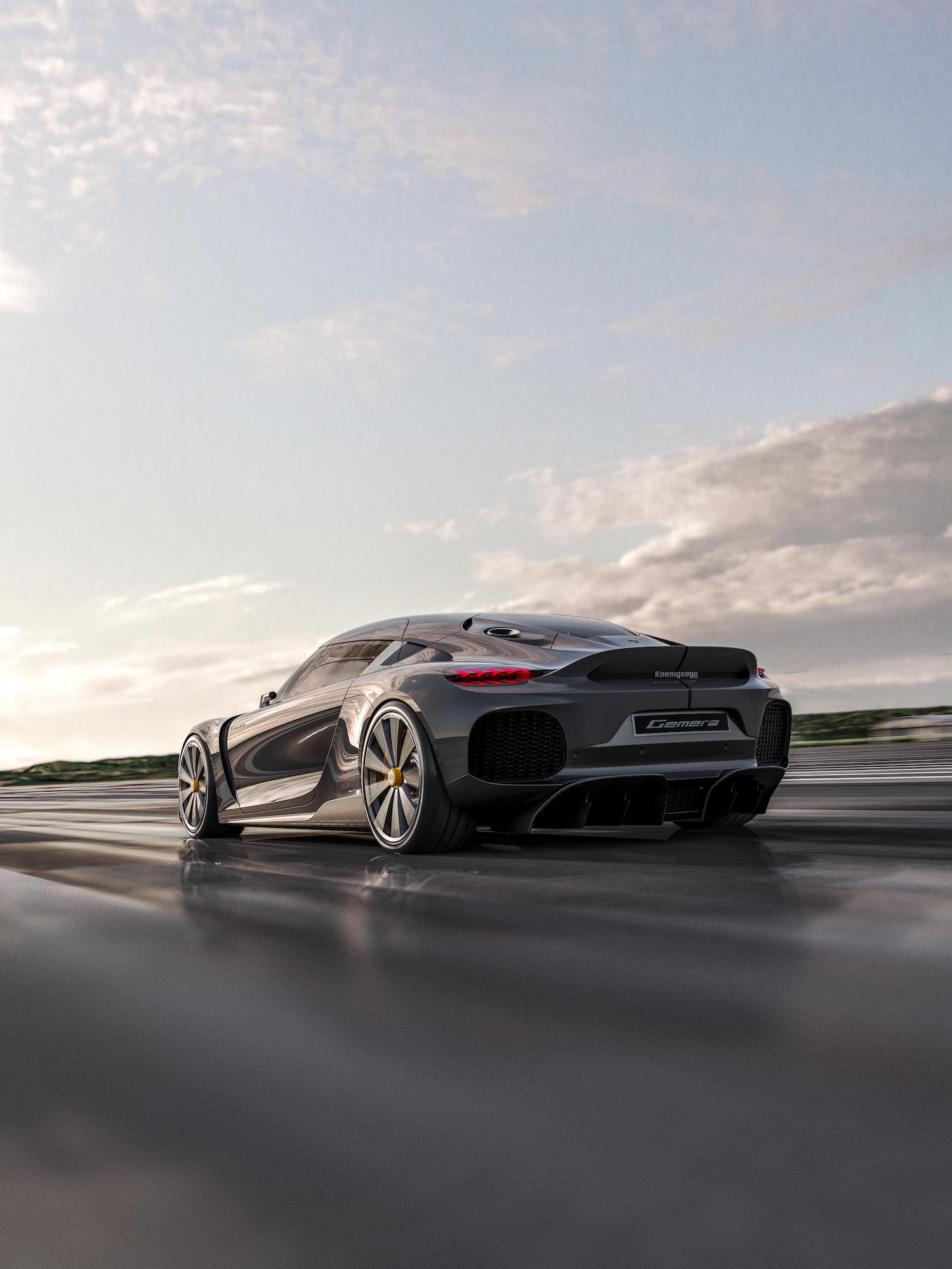 Koenigsegg gemera rear three-quarter