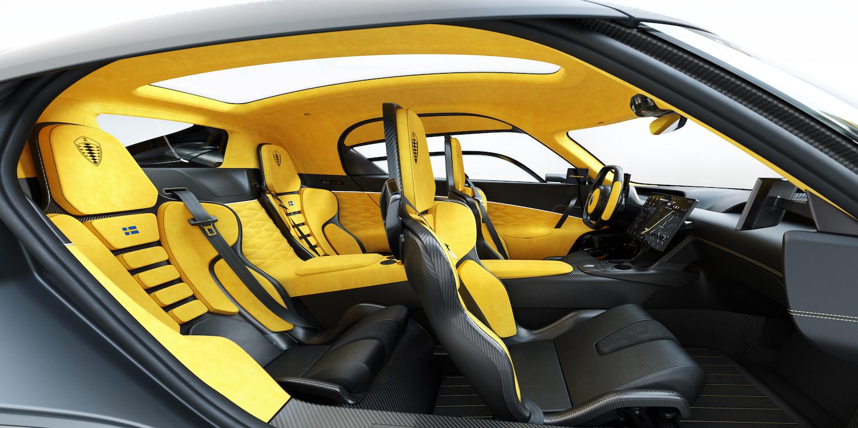 Koenigsegg gemera interior side-view