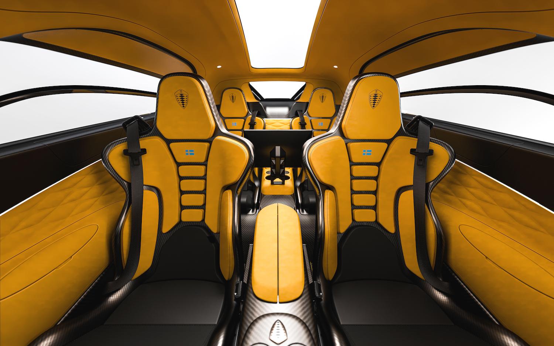 Koenigsegg gemera interior seats rear facing