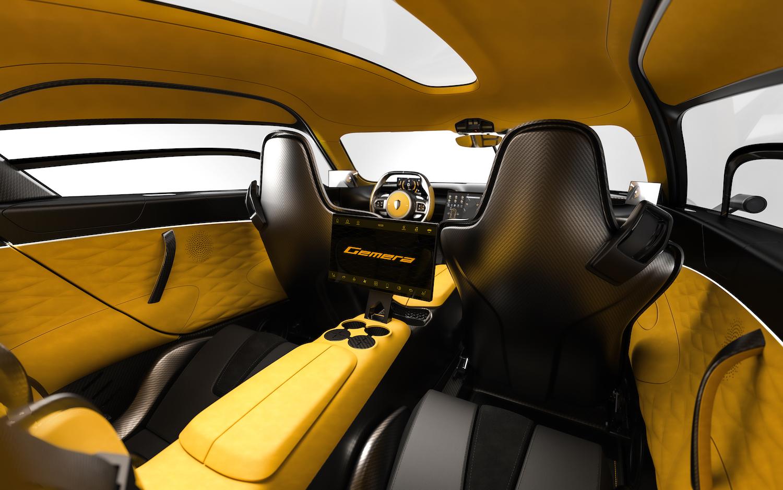 Koenigsegg gemera interior seats front facing