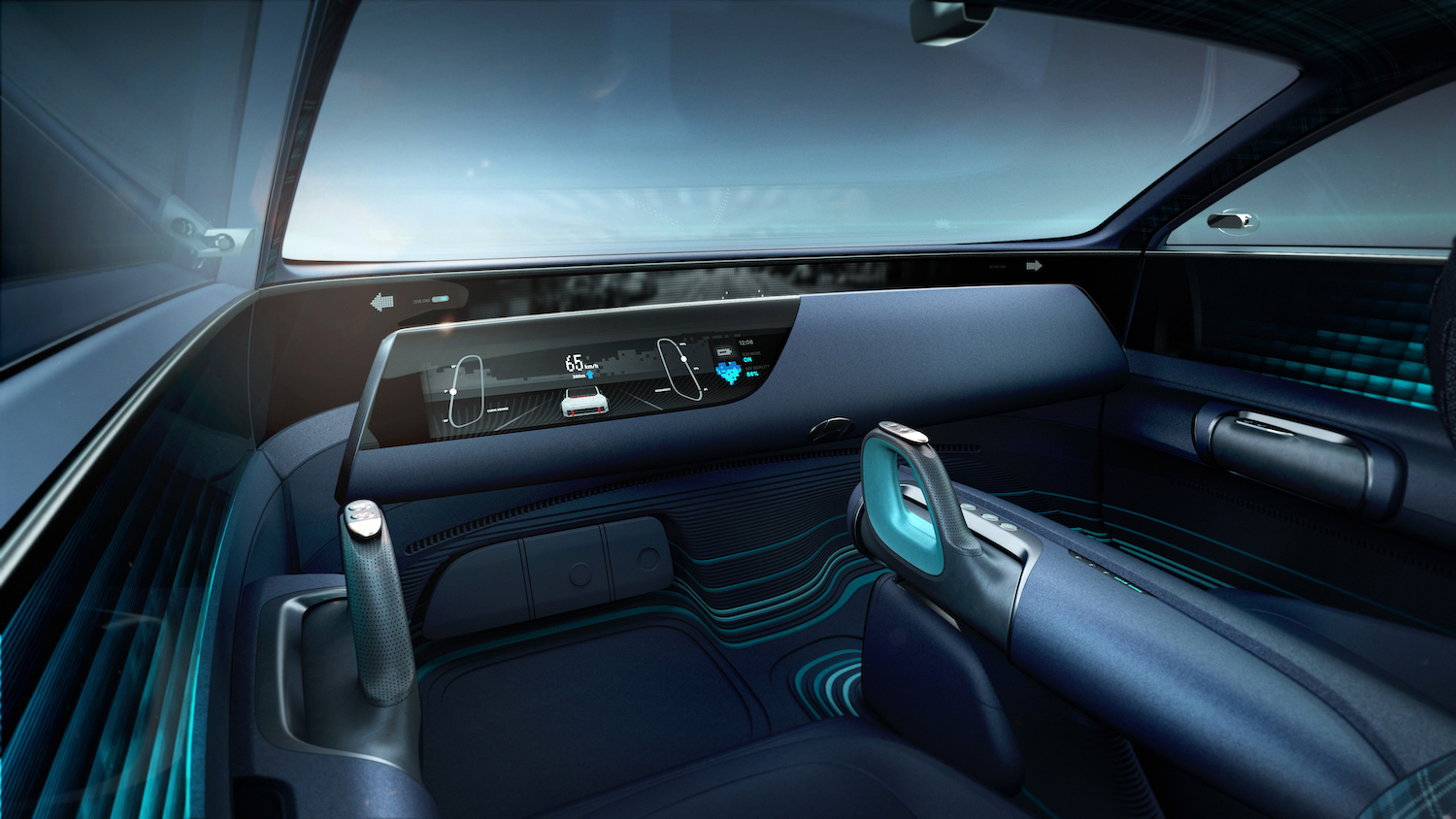 Hyundai Prophecy Concept EV interior front facing