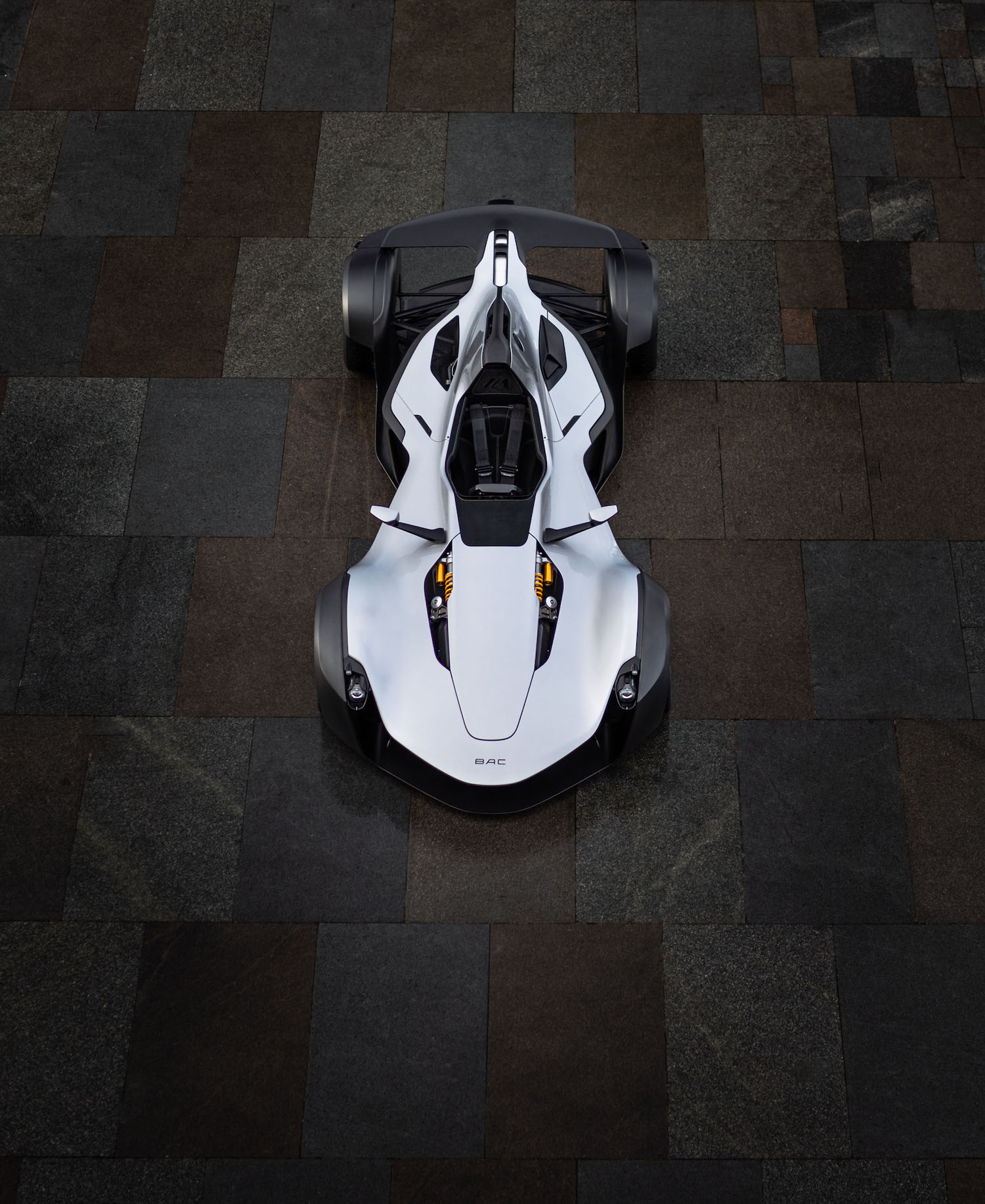 bac mono car front overhead