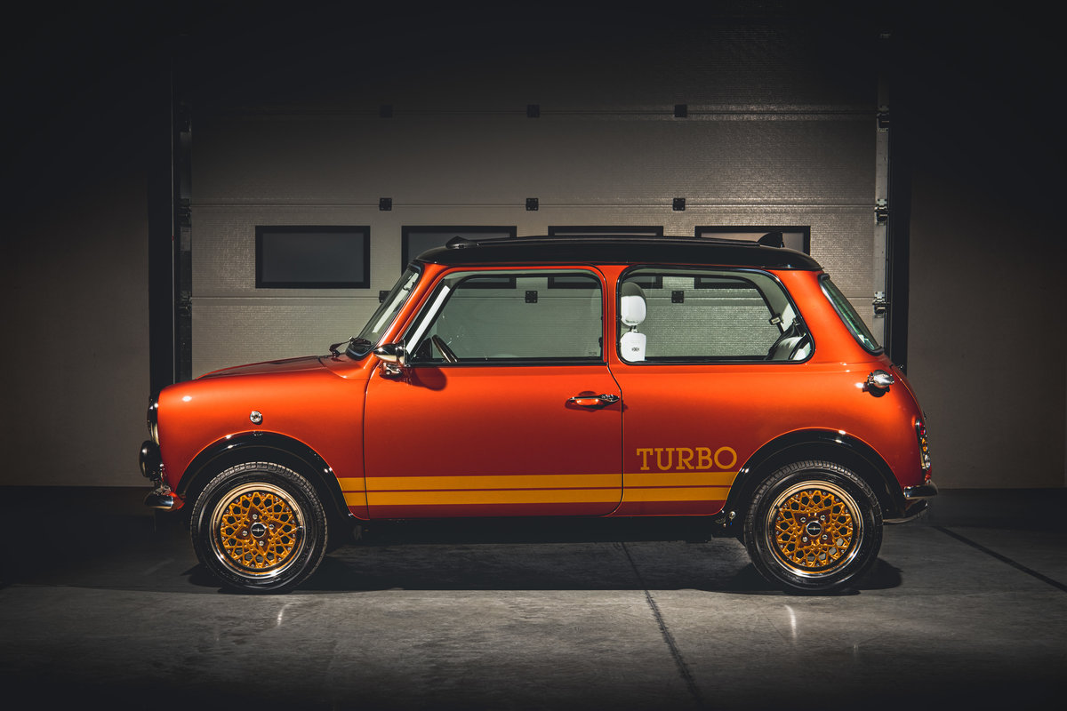 david brown remastered mini inspired by bond lotus esprit turbo side-view