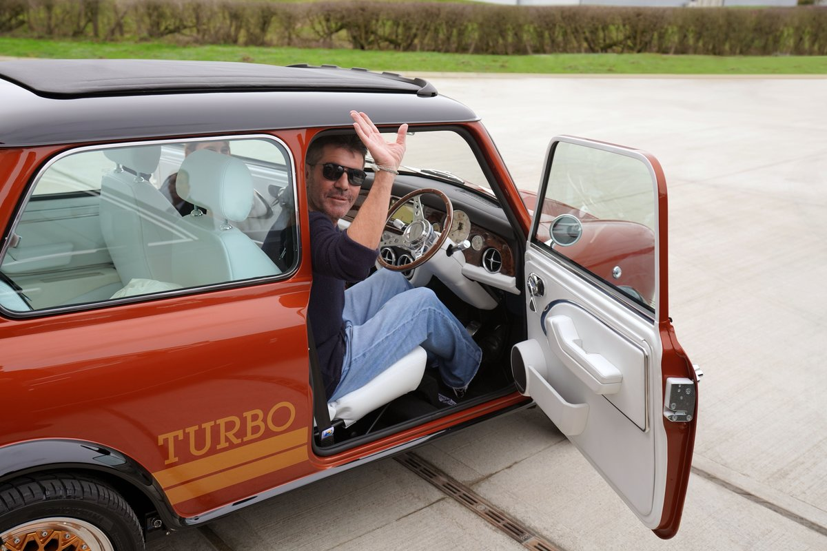 remastered mini inspired by bond lotus esprit turbo driver simon cowell waves