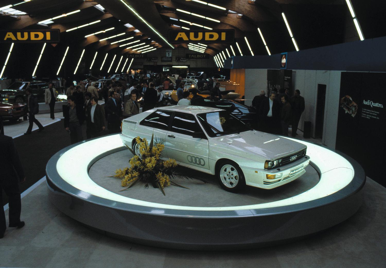 Audi Ur quattro front three-quarter at show