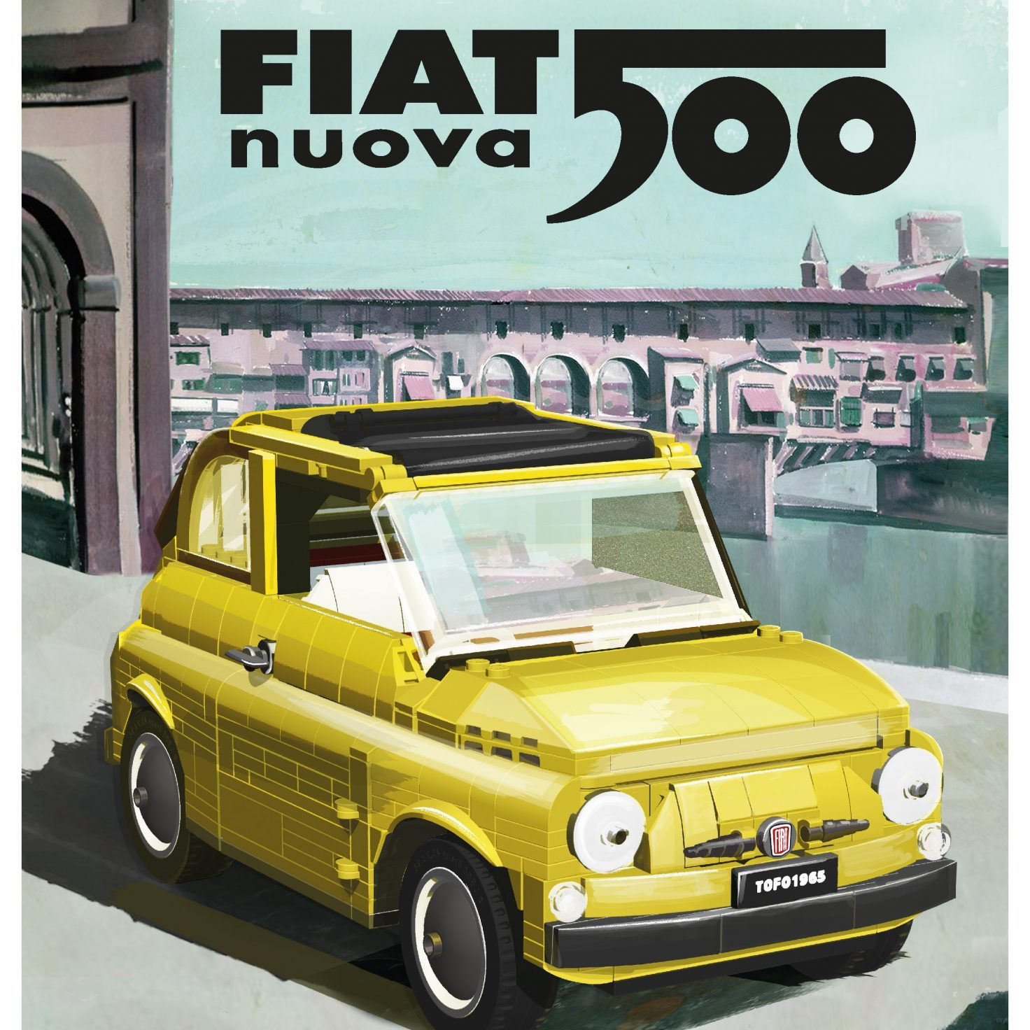 LEGO fiat 500 poster