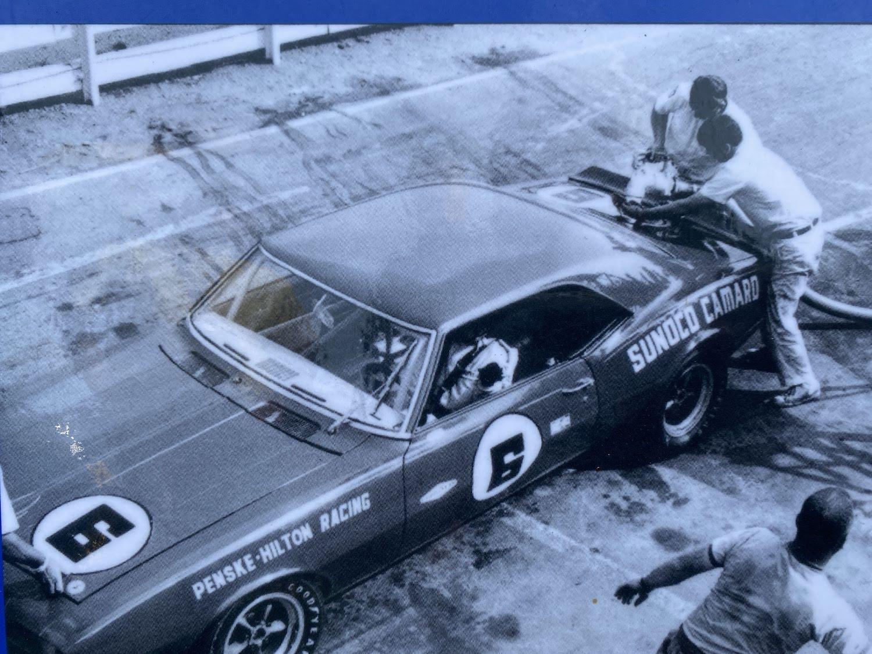 penske race car fueling up