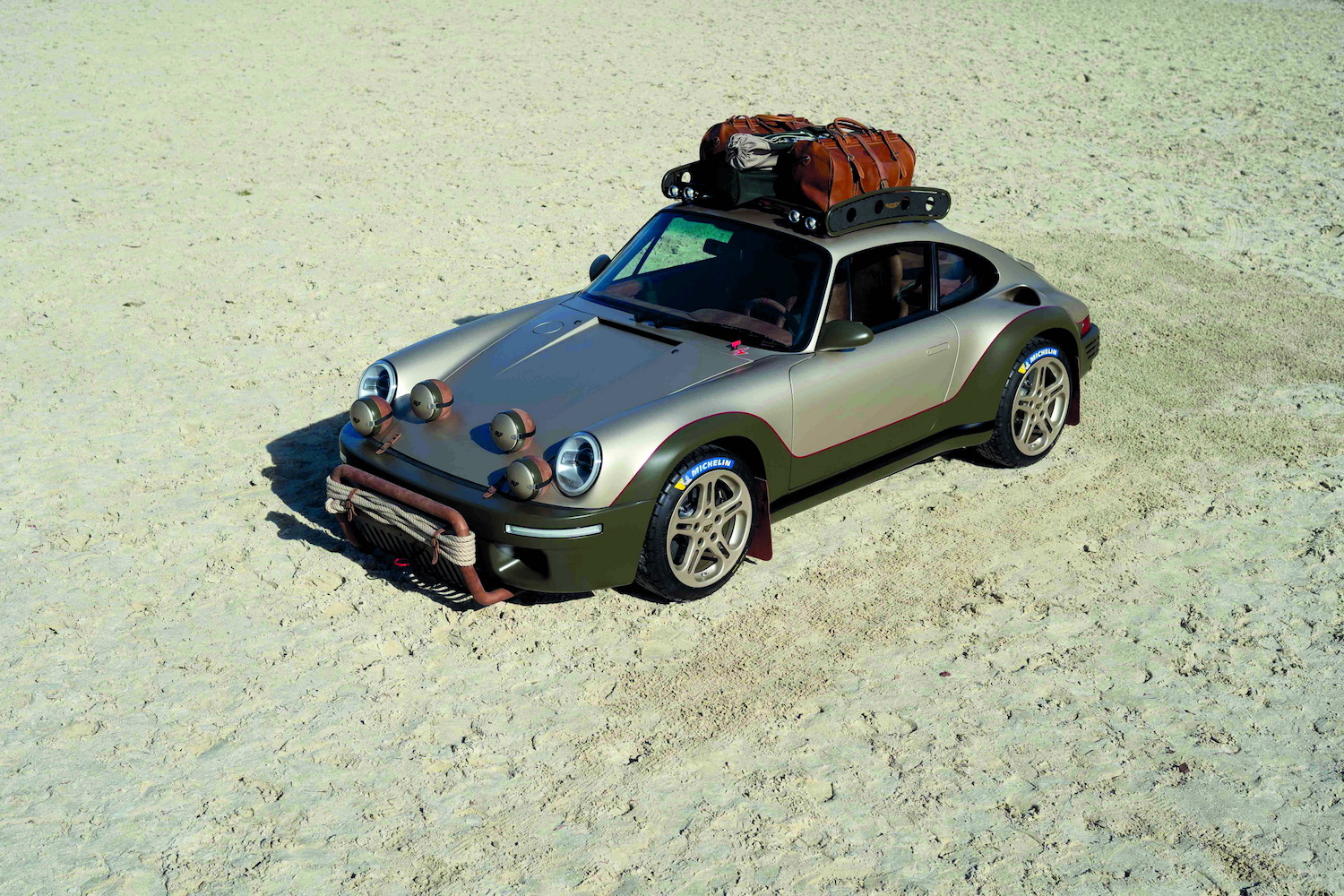 custom off-road porsche 911 elevated front three-quarter