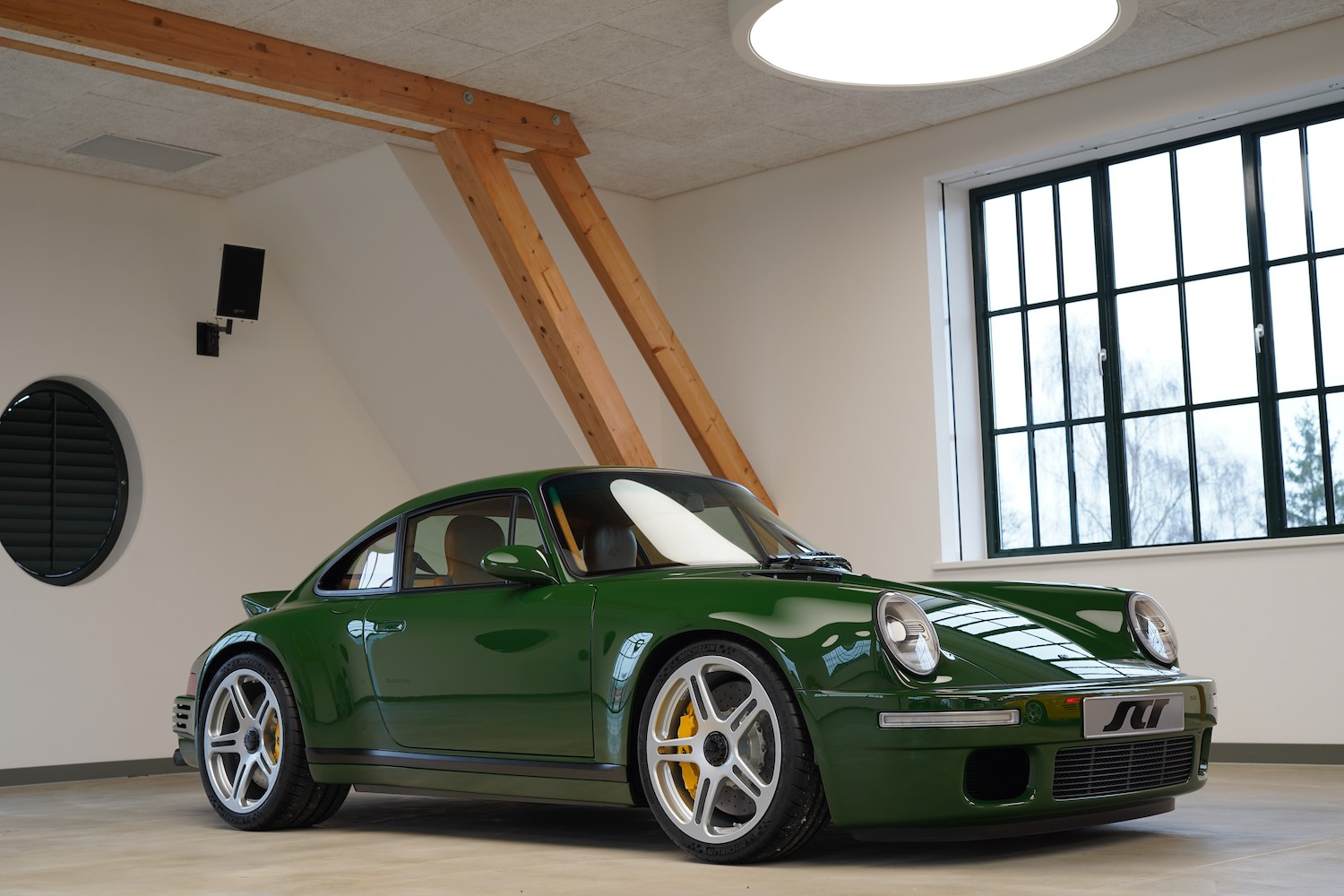 custom porsche 911 front three-quarter