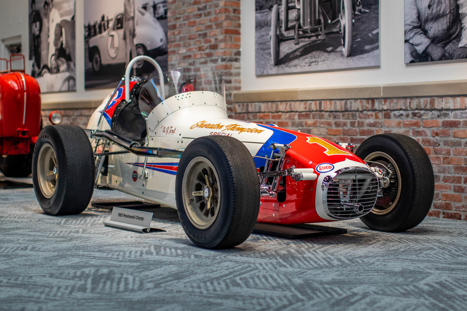 The 1963 Meskowski Champ driven by A.J. Foyt is part of the Brumos Collection's extensive catalog of circle-track racers.