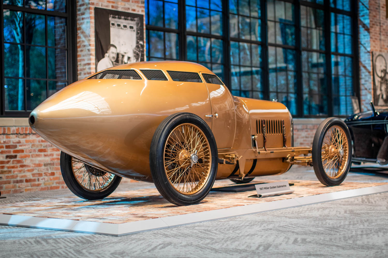 The 1917 Miller Golden Submarine driven by Barney Oldfield was an early attempt at aerodynamics.
