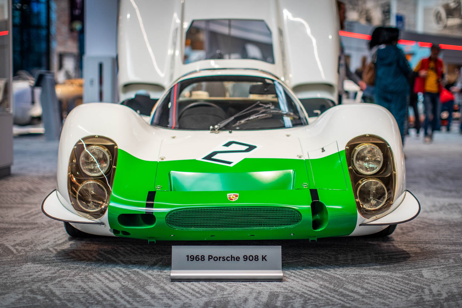 The museum's 1968 Porsche 908K, driven by Jo Siffert, is the subject of a famous photo of Siffert going airborne at the Nurburgring's Flugplatz during the '68 1000-km race.