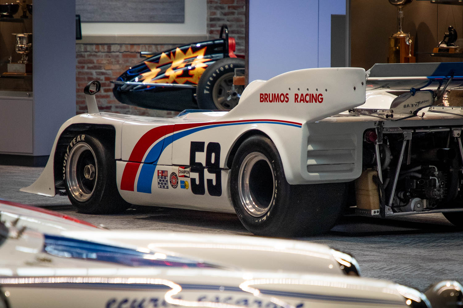 This 1972 Porsche 917-10 Can Am racer was the first car to feature the trademark blue-and-red Brumos sweeps.