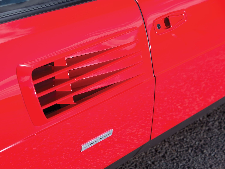 classic ferrari supercar side-vent closeup
