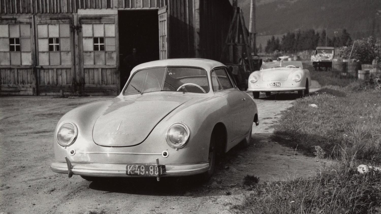 vintage porsche 356s front three-quarter