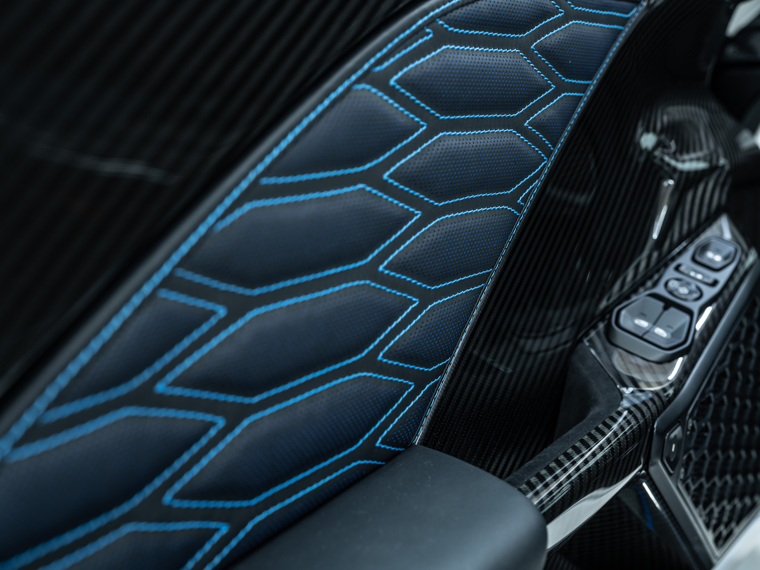 Zenvo tsr-s supercar interior door panel detail