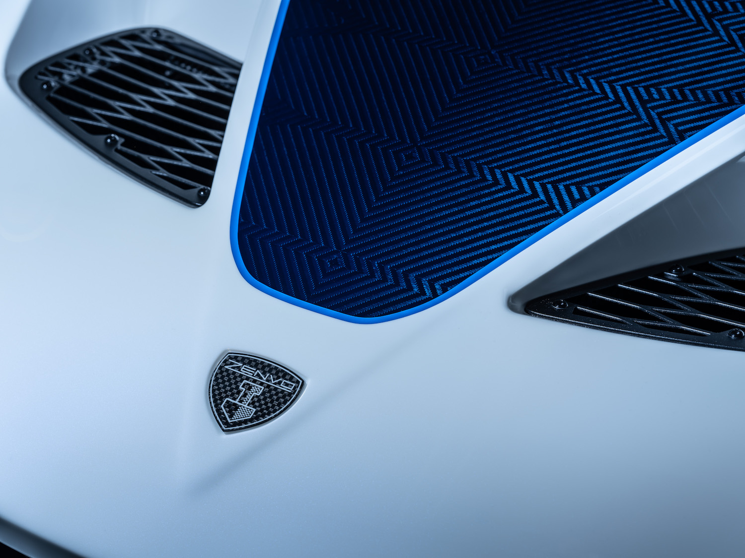Zenvo tsr-s supercar badge and vents