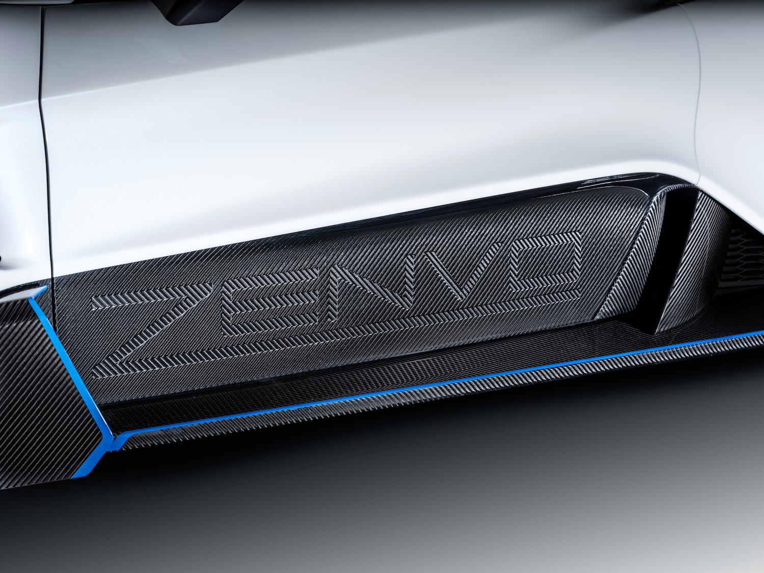 Zenvo tsr-s supercar carbon fiber name imprint