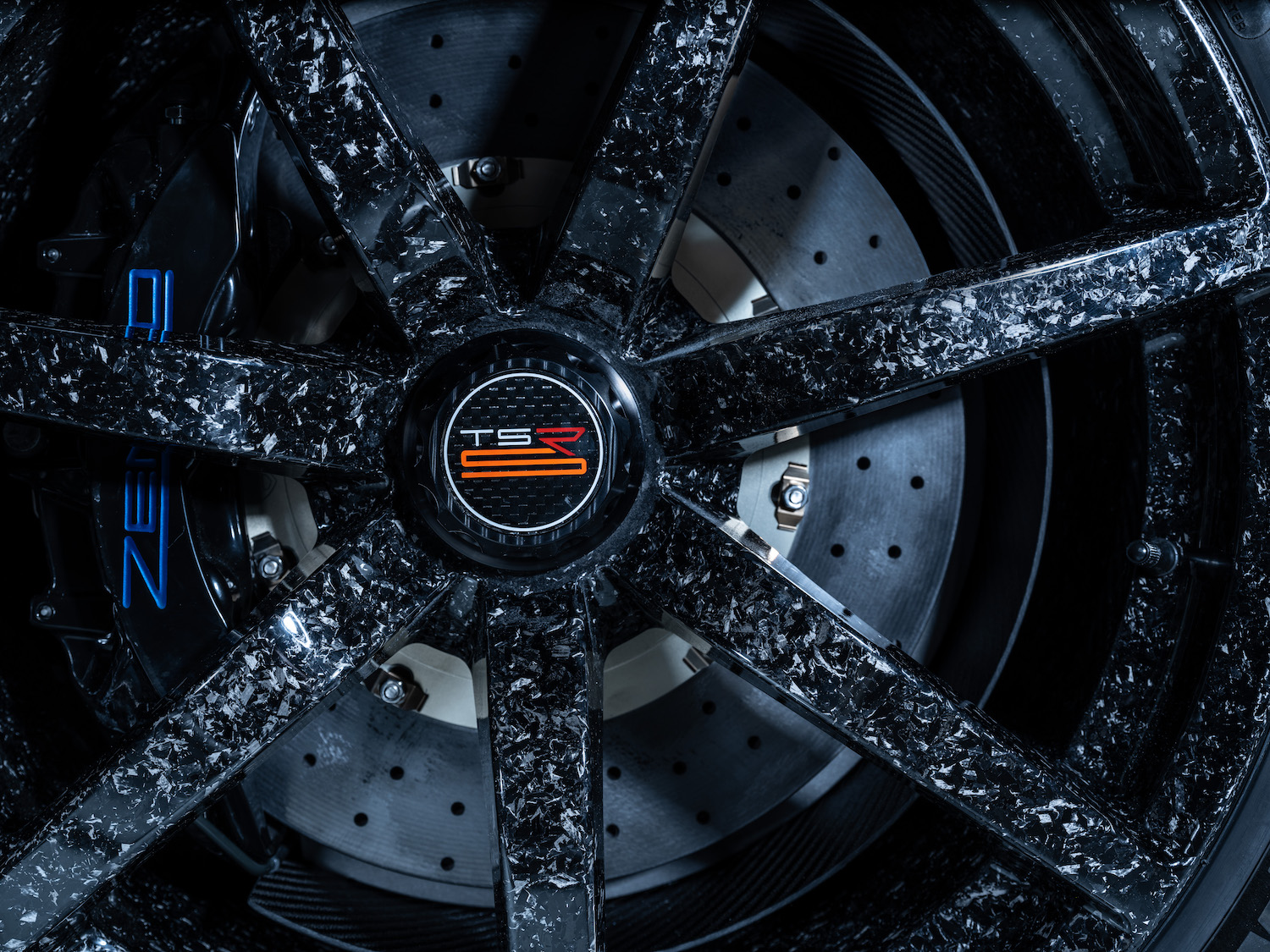 Zenvo tsr-s supercar wheel graphics closeup