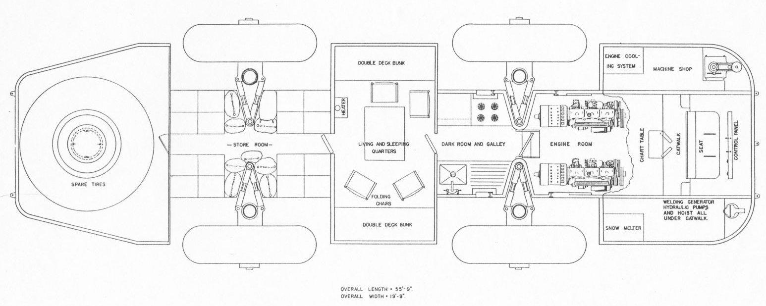 Snow Cruiser floor plan