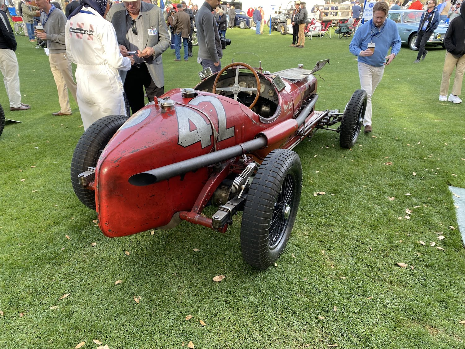 alfa romeo p3 vintage race car rear three-quarter
