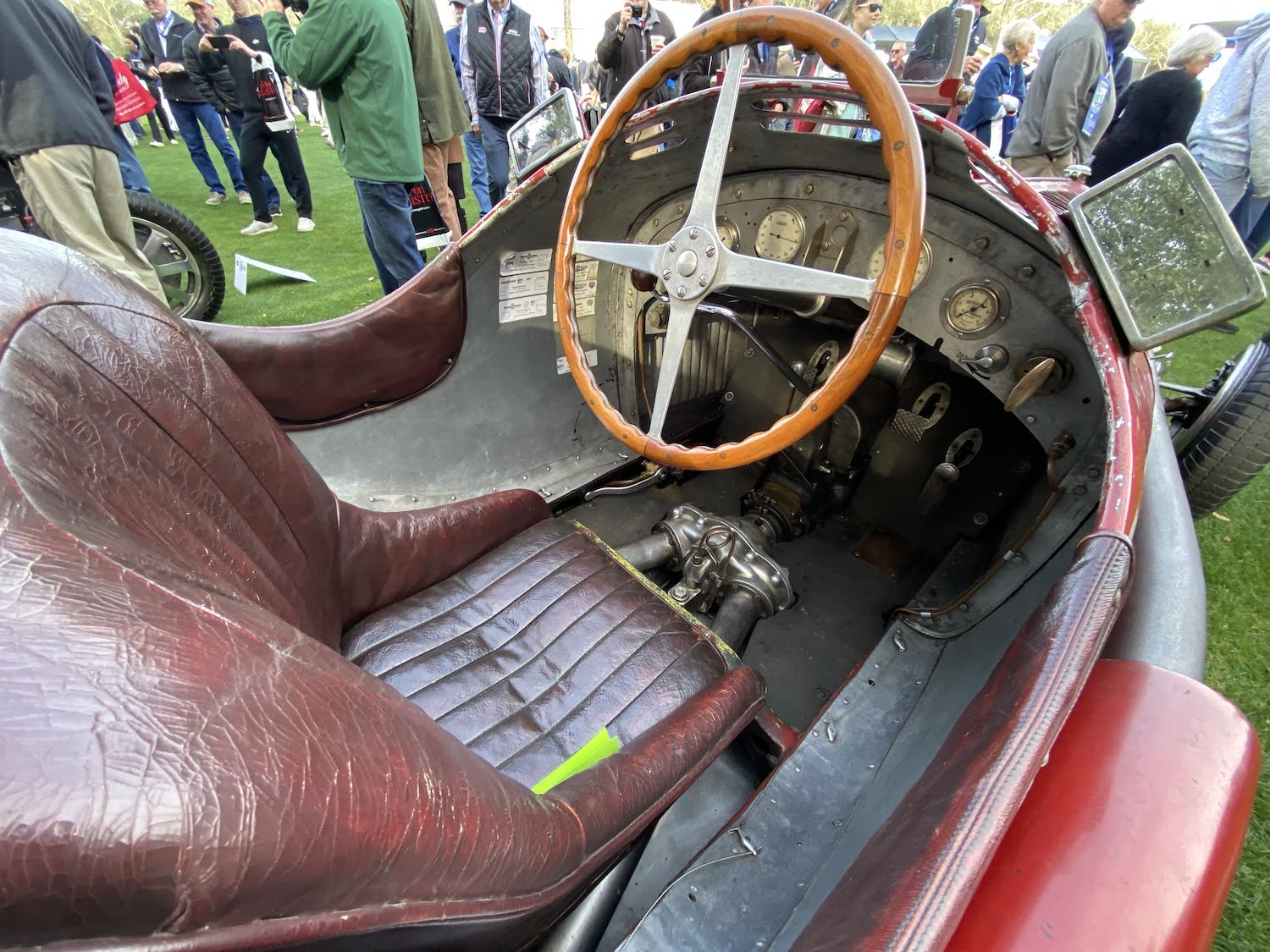 alfa romeo p3 vintage race car interior cockpit