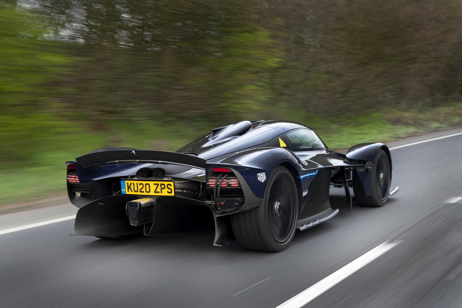 The Aston Martin Valkyrie is testing out in the wild thumbnail