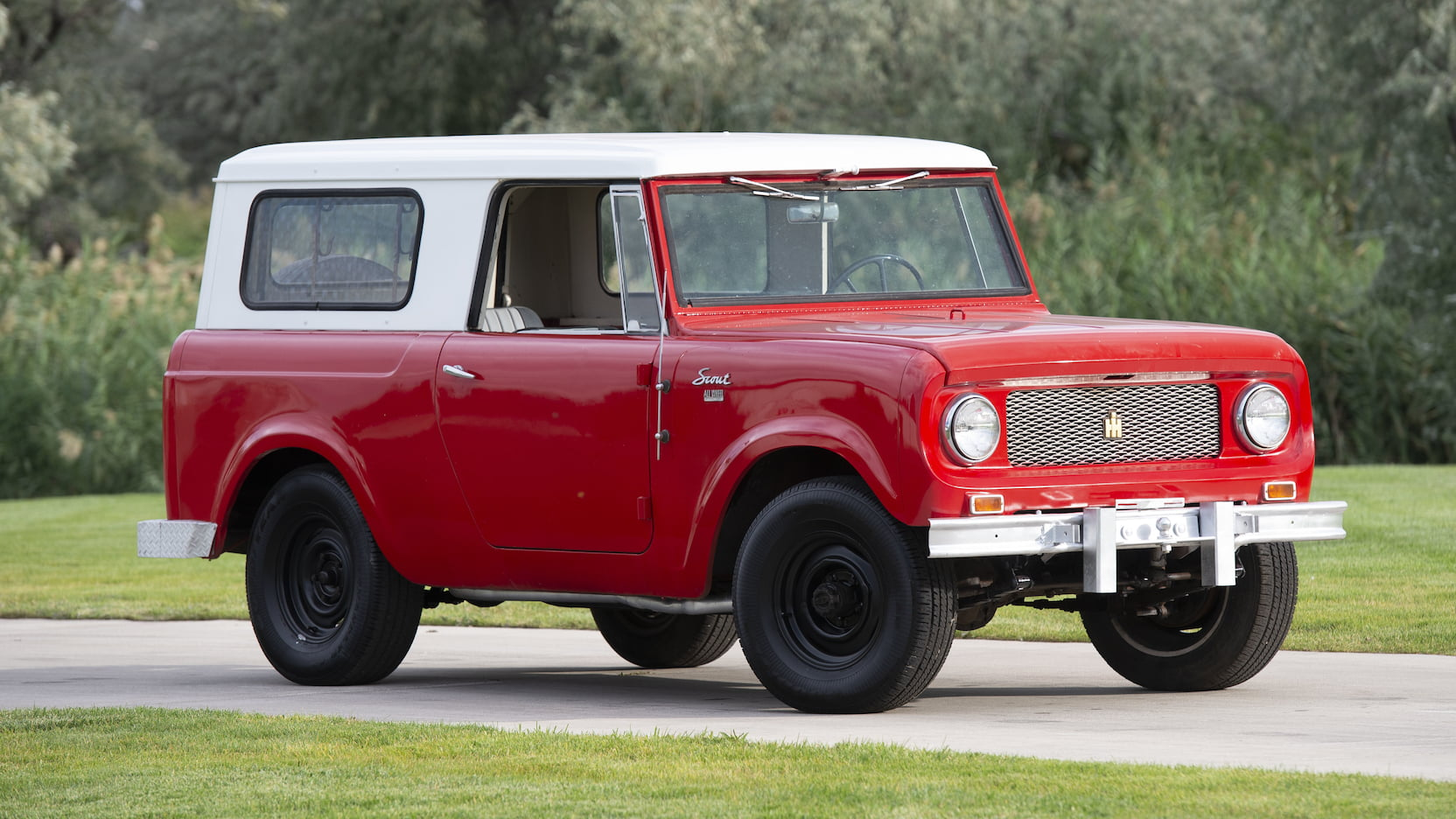1963 international harvester scout suv front three-quarter