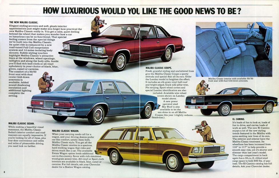 1978 classic chevrolet malibu coupe product brochure