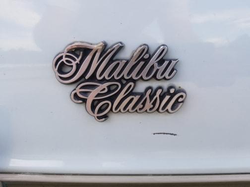 1978 classic chevrolet malibu coupe badge