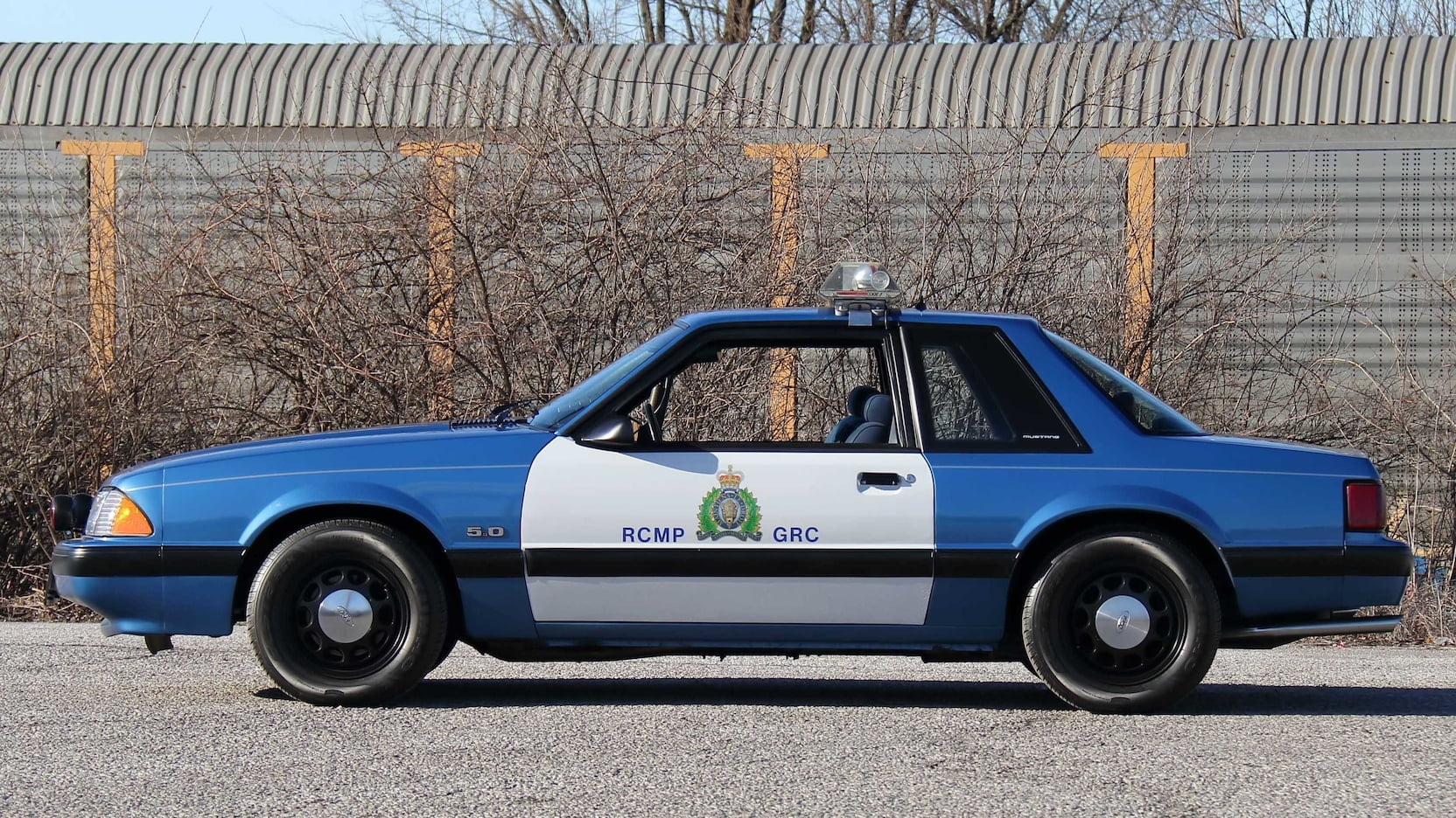 1989 Ford Mustang ssp police car side-view