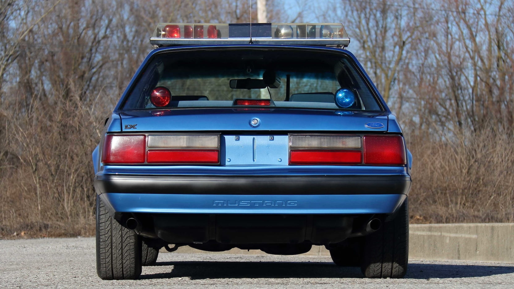 1989 Ford Mustang ssp police car rear