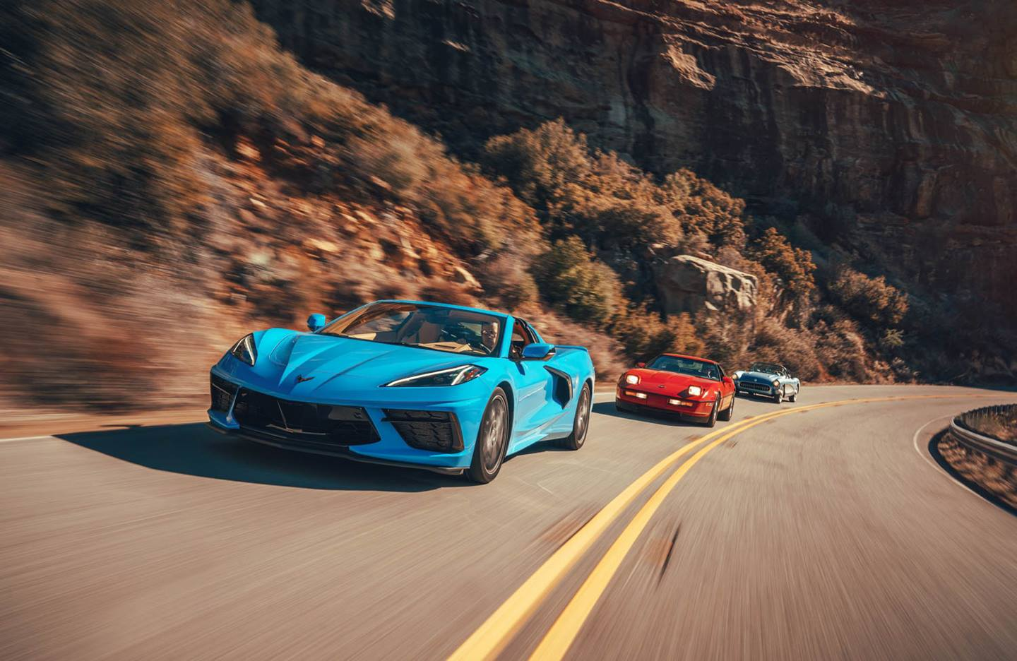 America's sports car has come a long way since 1953. We unite the mid-engine C8 with two previous Corvette turning points.