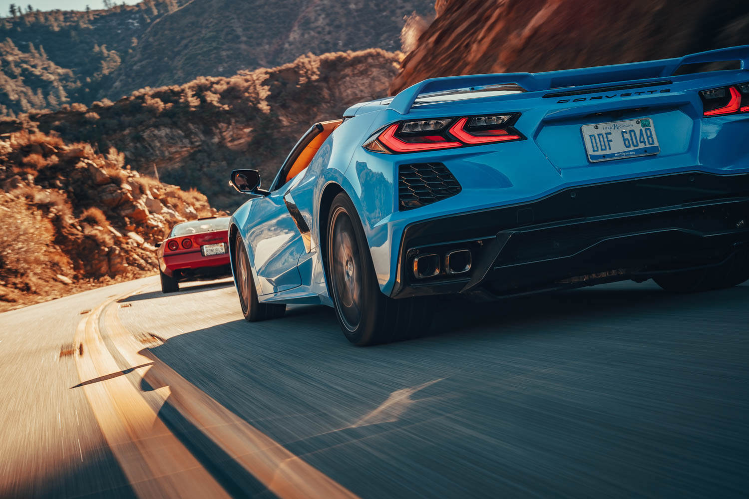 The C8's Z51 package includes bigger brakes; an electronic limitedslip differential; Michelin Pilot Sport tires; performance exhaust and suspension; and aero aids.