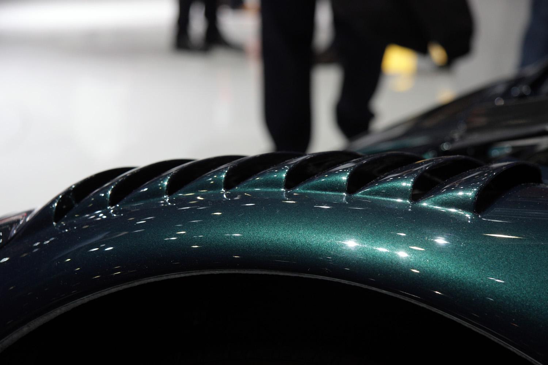 green mclaren gt vents closeup