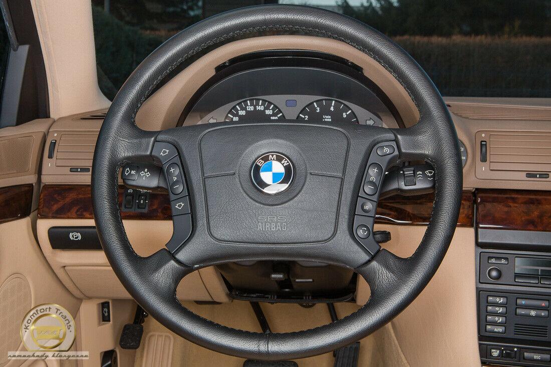 bmw interior steering wheel detail