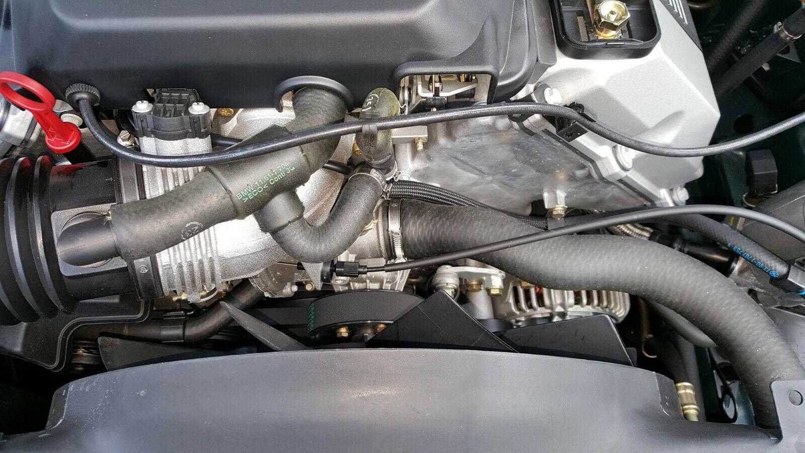 bmw sedan engine front belt detail