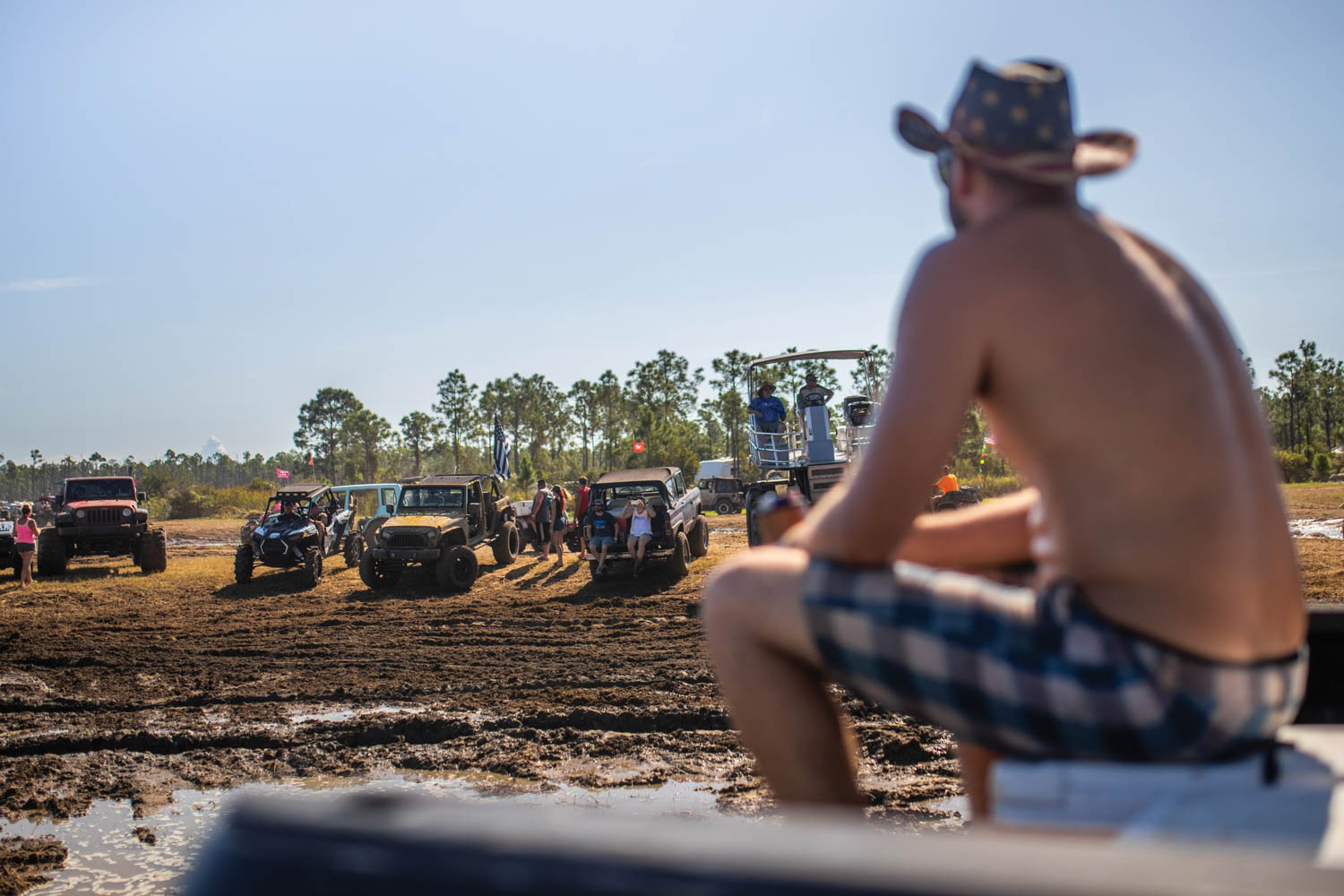Jeeps, Broncos, side-by-sides, ATVs, and pontoon trucks are all part of the Redneck ecosystem.