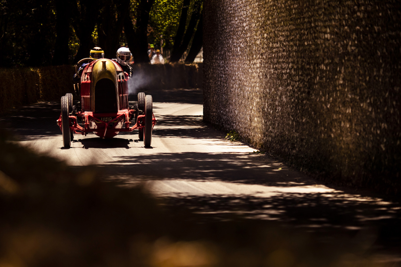 vintage race car front at goodwood