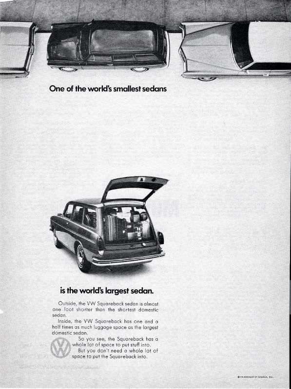 classic Volkswagen advertisement