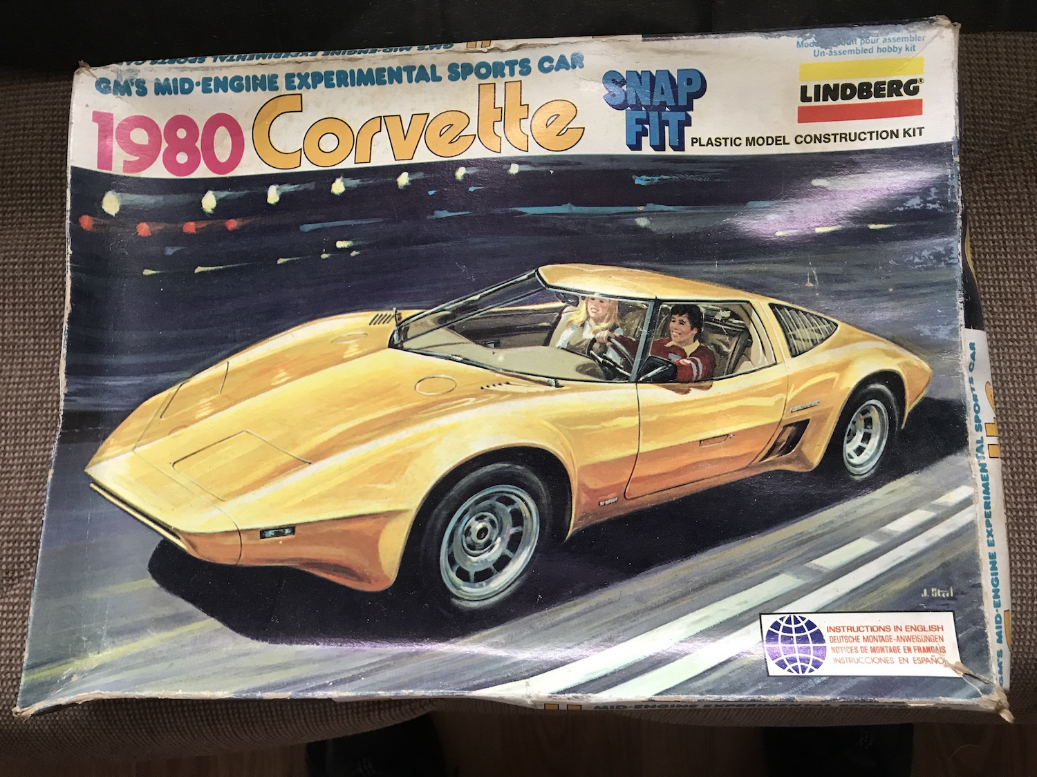 lindberg snap fit model corvette