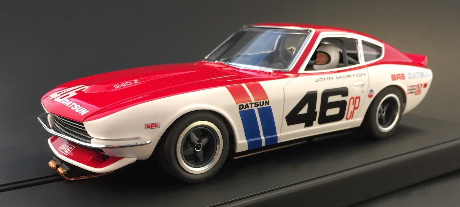 bre datsun race car model with driver john morton