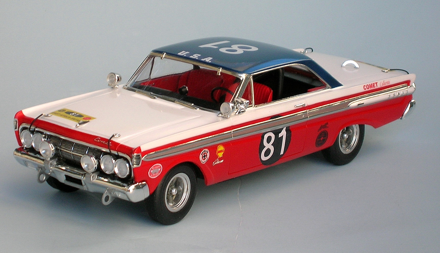 1981 mercury comet race car model number 81