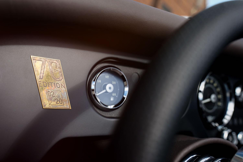 70th edition interior badge and dash detail close