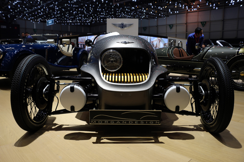 morgan roadster front close at geneva show