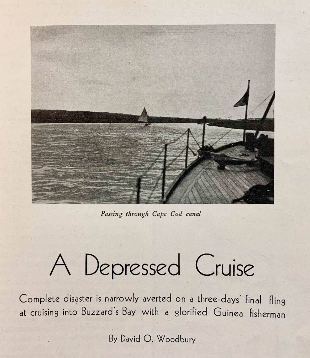 A Depressed Cruise by David O. Woodbury