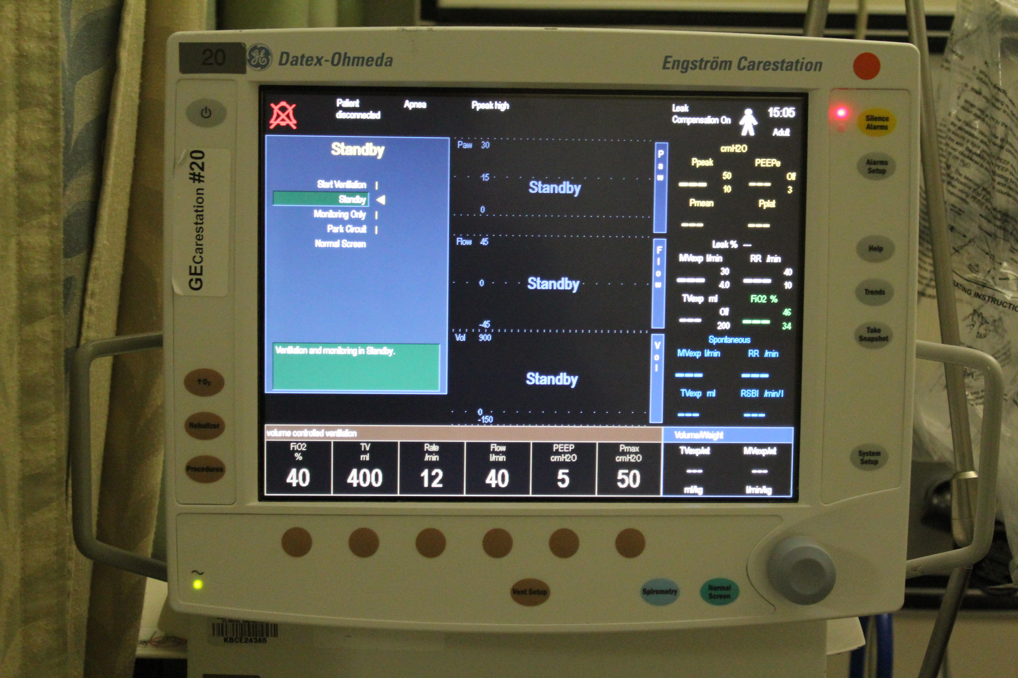 Ventilator screen